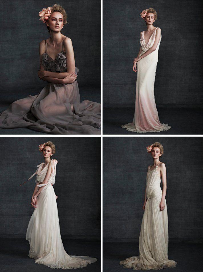 Stunning Wedding Dresses in Beige and Blush   OneWed
