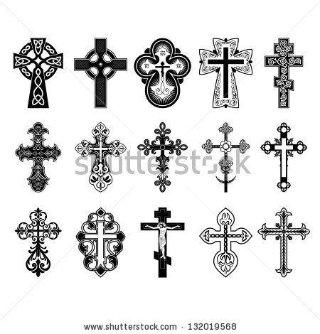 Set of crosses. Vector Eps 10. by Khartseva Tetiana, via ShutterStock