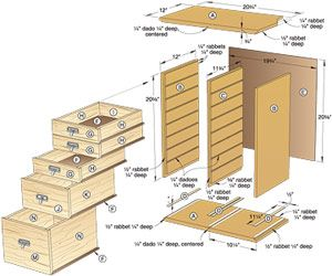 Unique Chest Planschest Of Drawers Plans  The Faster Amp Easier
