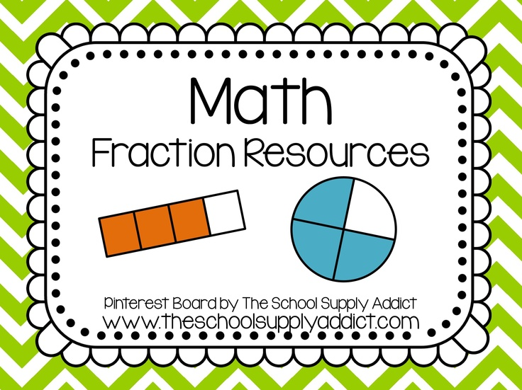 Fractions Pin Board by The School Supply Addict