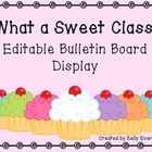 It's back to school time! This editable cupcake bulletin board display is a great way to welcome your students with personalized cupcakes!  This fr...