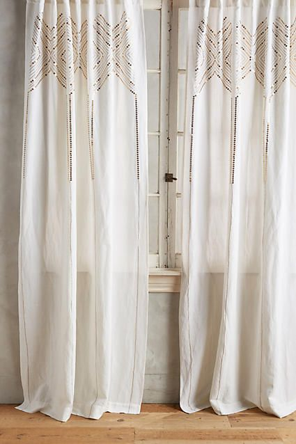 Linear Sequin Curtain - anthropologie.com