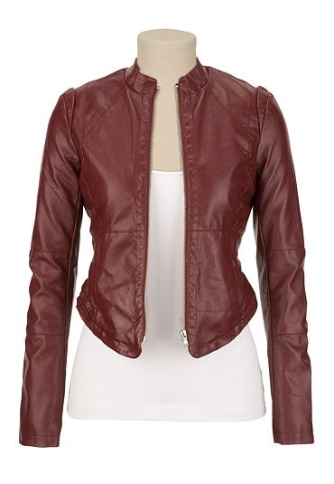Oh my land, does anyone else think this looks like Martha Jones's jacket? Vera Faux Leather Jacket - maurices.com