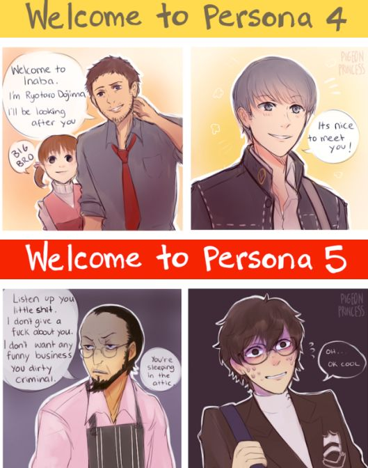 Dojima: HI! I'm your uncle! Sojiro: Listen you little shit!