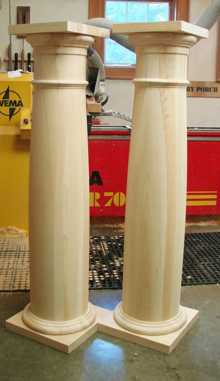 "Columns 12"" wide and has varied heights as ordered by customer."