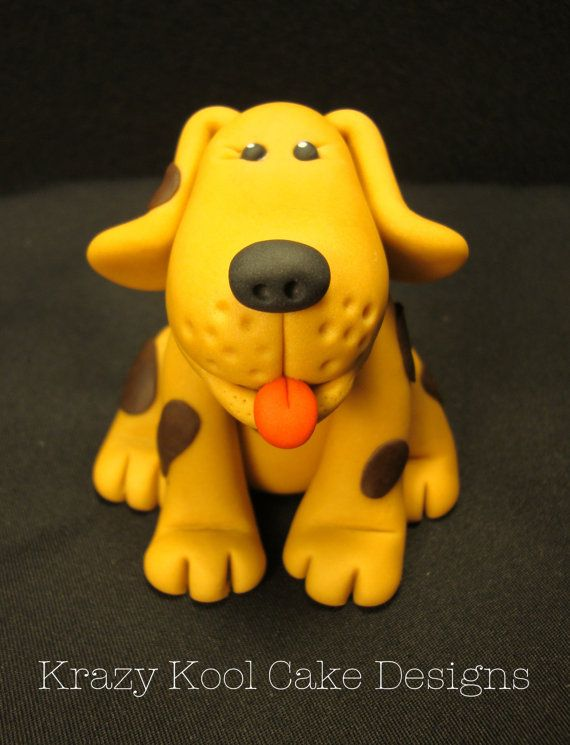 Puppy Cake Topper by KrazyKoolCakeDesigns on Etsy, $32.00