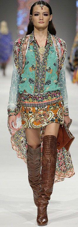 "Camilla Franks 2013, #PurelyInspiration...Reese dresses NICKY in her version of ""Boho Gypsy"""