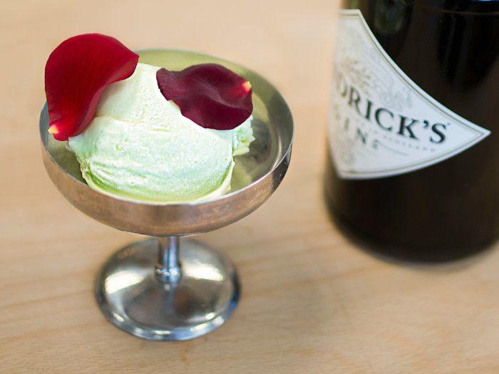 Gin & Tonic-glass med smak av gurka och Hendrick's Gin.