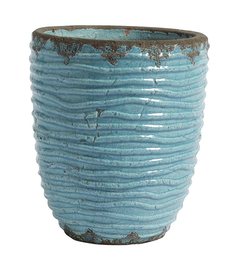 Flower pot - turquoise