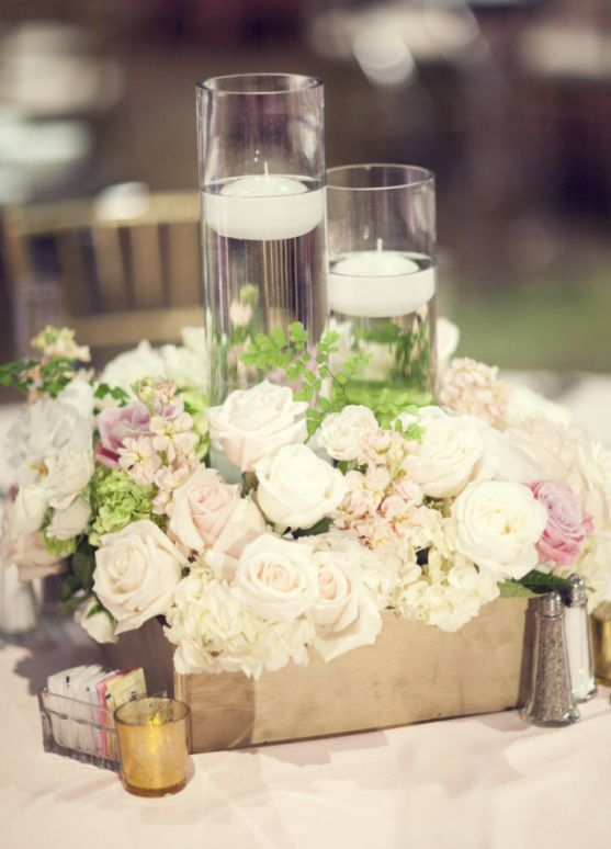 Wedding reception centerpiece idea; Featured Photographer: Three Nails Photography