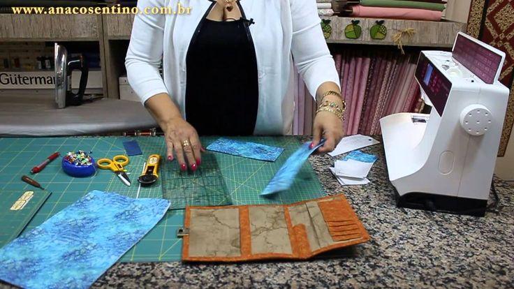 Patchwork Sem Segredos(Ana Cosentino):  Aula 23 (30/03/2015) - Montagem Carteira Crazy (Parte 02)