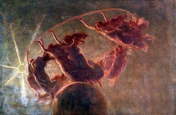 Gaetano Previati, The dance of the Hours