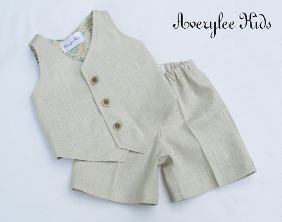 A little boys suit that will be dapper for any occasion this spring and summer; Easter, wedding, baptism, recital, birthday, etc. Our linen suit for