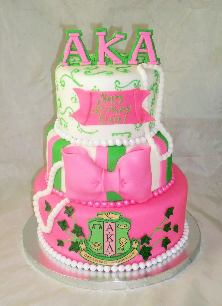 Aka Alpha Kappa Alpha Birthday Cake Www