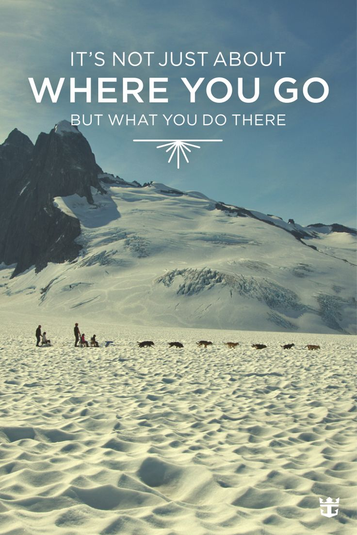 It's not just about where you go, but what you do when you get there.