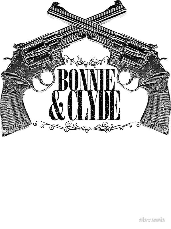 """Bonnie & Clyde Crossed Guns"" T-Shirts & Hoodies by elevensie 