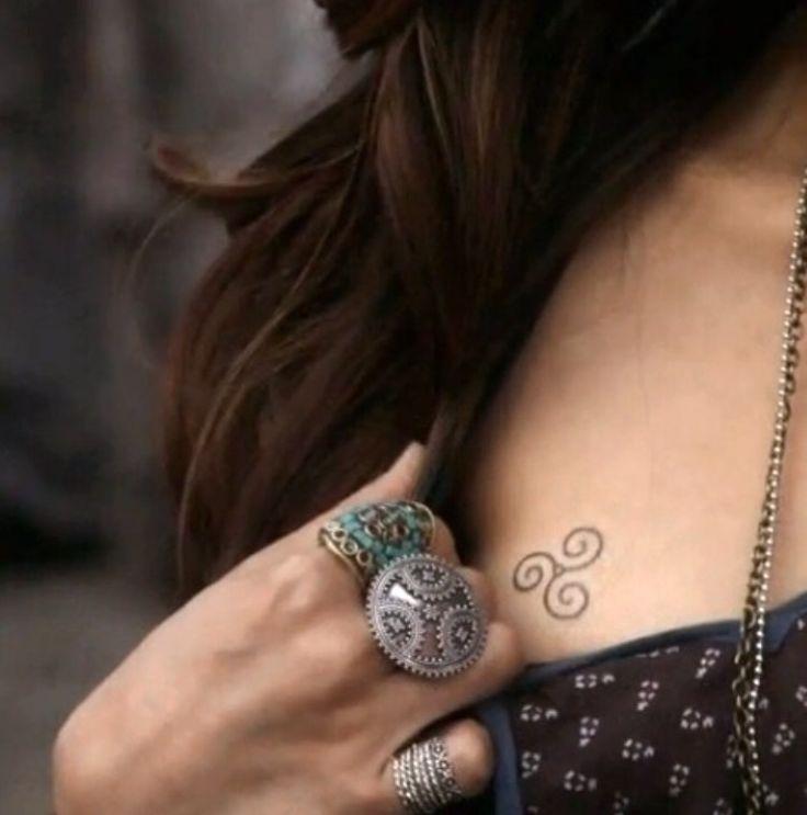 women empowerment tattoo - triple spiral - three goddesses