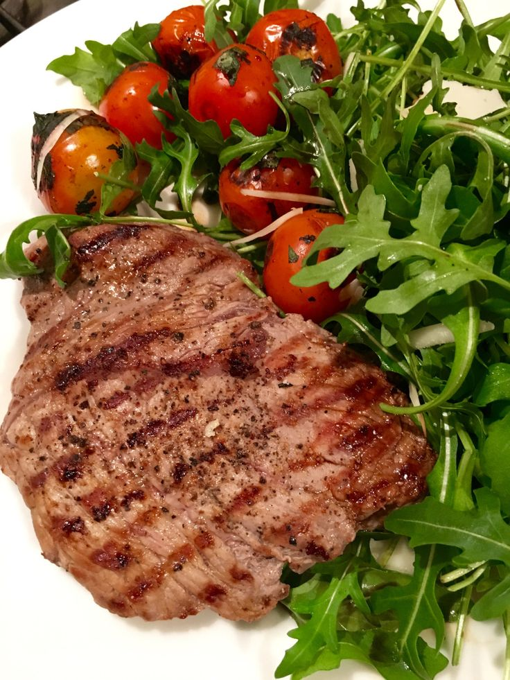 Steak with Balsamic Tomato   everyday food