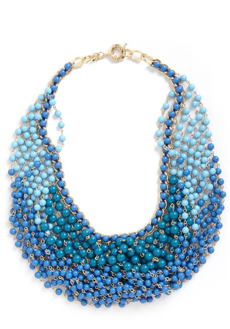 Statement of the Art Necklace in Azure | Mod Retro Vintage Necklaces | ModCloth.com: Fashion, Statement Necklaces, Style, Blue Necklaces, Art Necklaces, Jewelry, Accessories, Modcloth Com, Azure