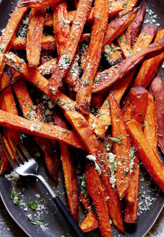Garlic Herb Sweetpotato Fries from www.whatsgabycooking.com (@whatsgabycookin)
