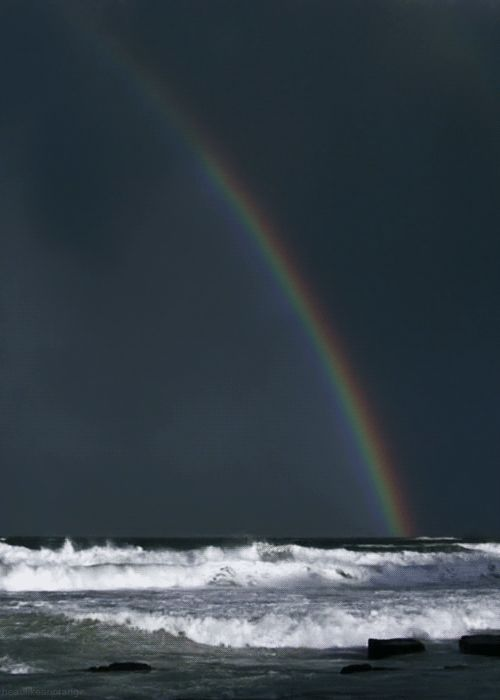 Rainbow over the Sea: Animated GIF