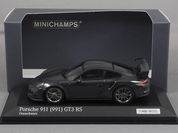 ポルシェ911/991 GT3 RS 2015灰黒1:43ミニチャンプスCA04316005_画像1