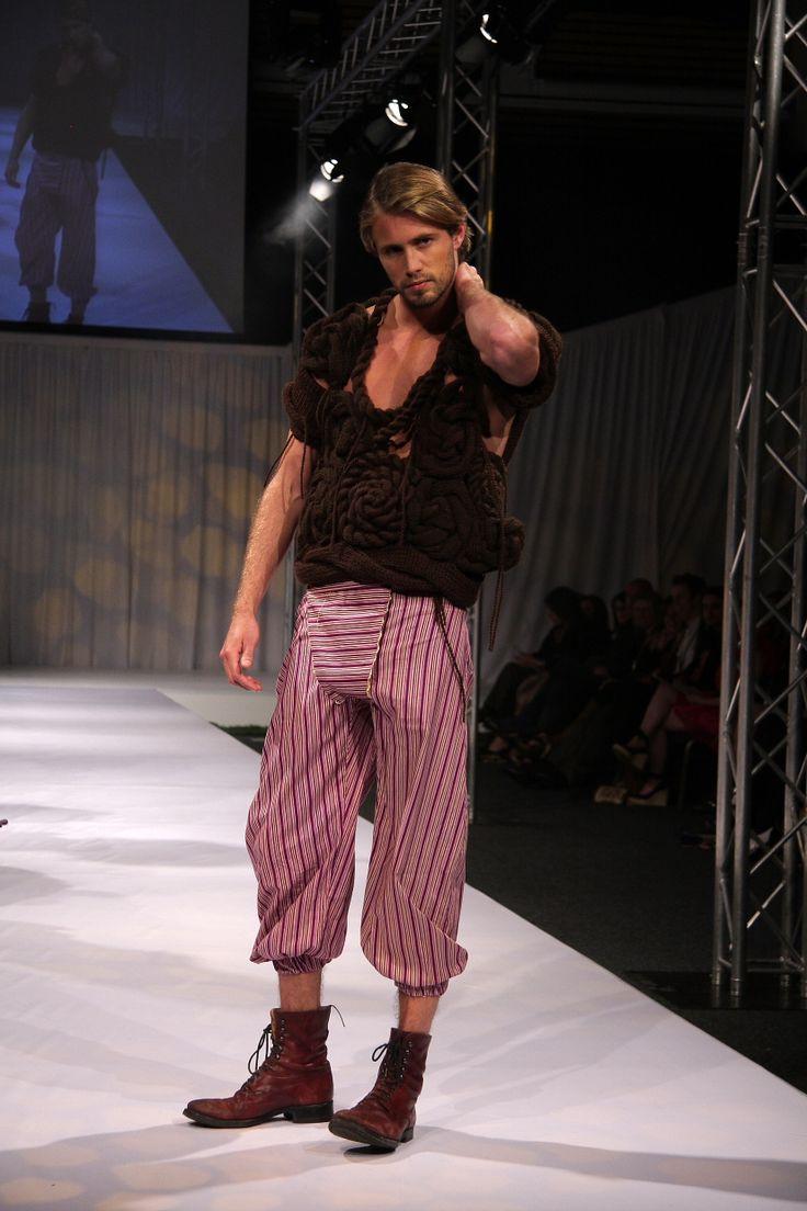 Designer Knitwear for Men. Designer: Rebecca Timson, Photographer: Penny Lane, Model: Tom Bull