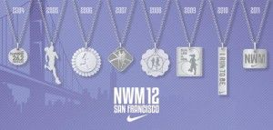 Bucket List Race: Nike Women's Marathon San Francisco - every participant gets a Tiffany necklace as the finisher medal