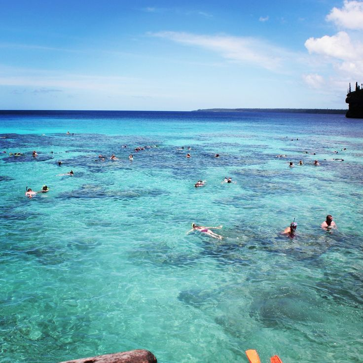 Snorkelling on Lifou Island, New Caledonia - brightest turquoise water I've ever seen!