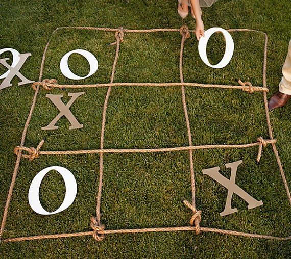 Large Tic Tack Toe game for any party, wedding, or just for a quick east game with the kids.    This game comes complete with cutouts of X's, O's, and Rope  | Shop this product here: https://www.etsy.com/listing/521712455/wedding-lawns-games-giant-lawn-games?ref=shop_home_active_2 | Shop all of our products at https://www.etsy.com/shop/WildYouthLLC?ref=hdr_shop_menu