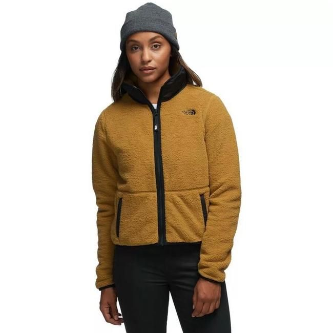 The North Face British Khaki Dunraven Sherpa Jacket Coat Size 8 M 33 Off Retail Crop Jacket Sherpa Jacket Jackets For Women