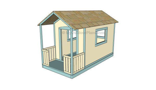 Simple Playhouse Plans | MyOutdoorPlans | Free Woodworking Plans and Projects, DIY Shed, Wooden Playhouse, Pergola, Bbq