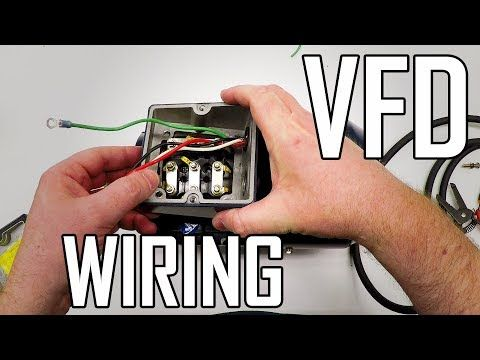 118 Lathe Vfd 1 How To Wire A 3 Phase Motor And Vfd Youtube Electrical Circuit Diagram Lathe Power Inverters