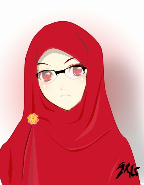 anime hijab glasses - Google Search