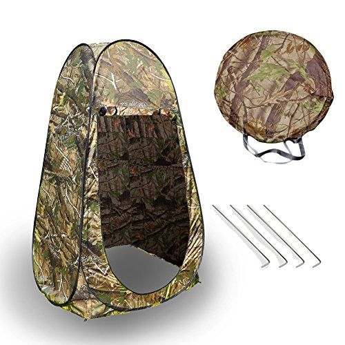 Portable Outdoor Shower TentCamping Hiking Pop Up Tent Beach Shower Dressing Tent Privacy Toilet Changing Room with Zippered Carrying BagCamouflage >>> See this great product.