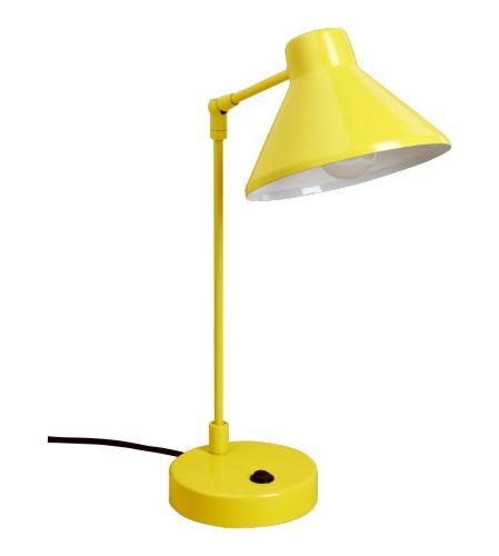 Luxury BOBBY Schreibtischlampe gelb