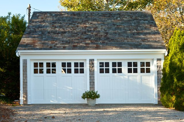 Garage Door Window Inserts Garage and Shed Traditional with Gravel Driveway Shingle Two Garage Doors White Garage Doors