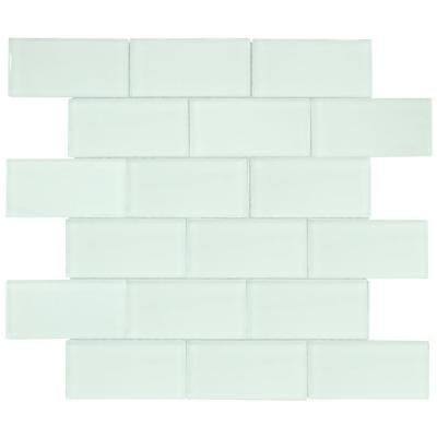 Jeffrey Court Siberian Gloss 11-5/8 in. x 12-5/8 in. x 8 mm Glass Mosaic Tile-99520 - The Home Depot
