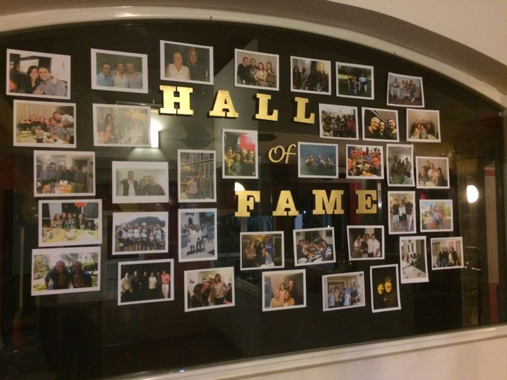 Hall Of Fame Photos Party Wall Birthday Pinterest