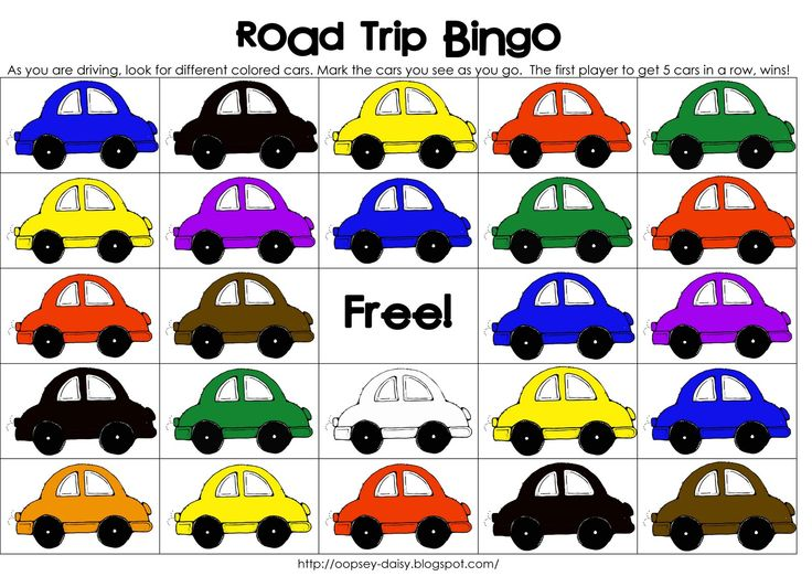 Funner in the Summer: Road Trip Bingo from oopsey daisy     Thirty Handmade DaysThirty Handmade Days
