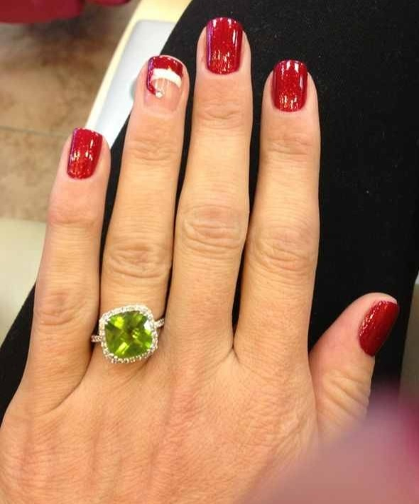 Christmas nAils- used Dear Santa by opi