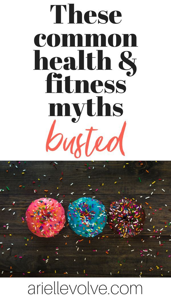 5 Common Fitness And Nutrition Myths Fitness Wellness Beauty
