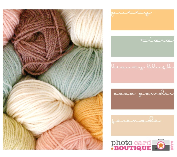 Love the colours of the wool...could crochet some granny squares in these