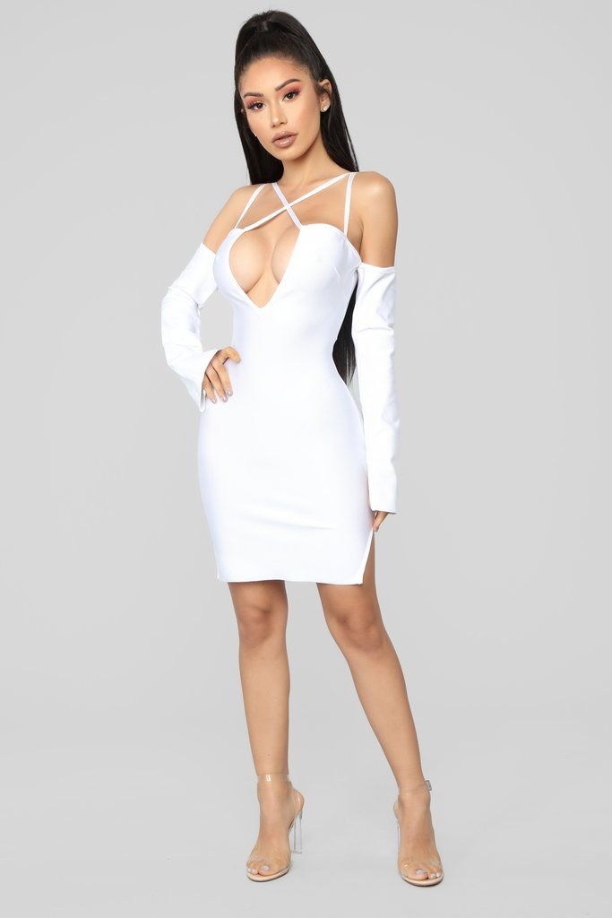 02b5a4a78f Eye Catching Mini Dress - White