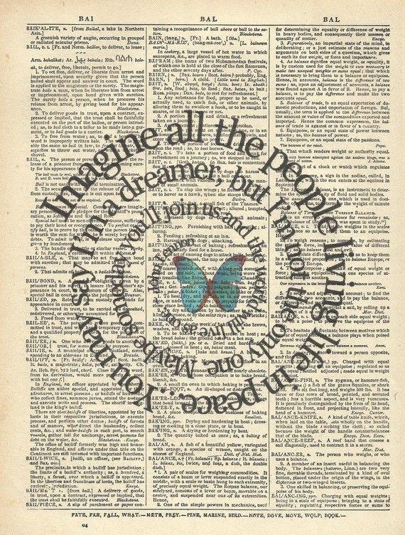 Song Lyrics Art Print  Imagine  John Lennon  by TexasGirlDesigns, $10.00
