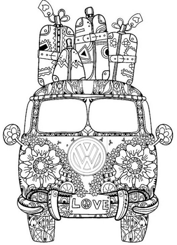 Vw Bus Coloring Pages Printable Free Coloring Sheets Mandala Coloring Pages Coloring Pages Cool Coloring Pages