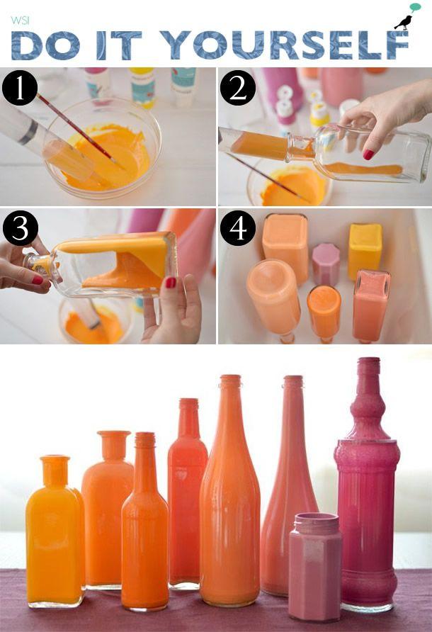 vaso de flor de garrafa, decoração, we share ideas, vaso de flores, transformação diy, faça você mesmo, flower cup