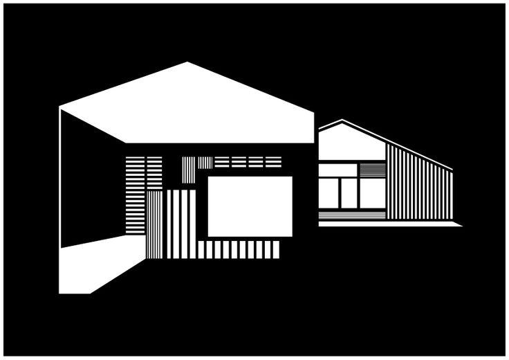 Kristina Dam signeret illustration - FJ House A3 - Tinga Tango Designbutik