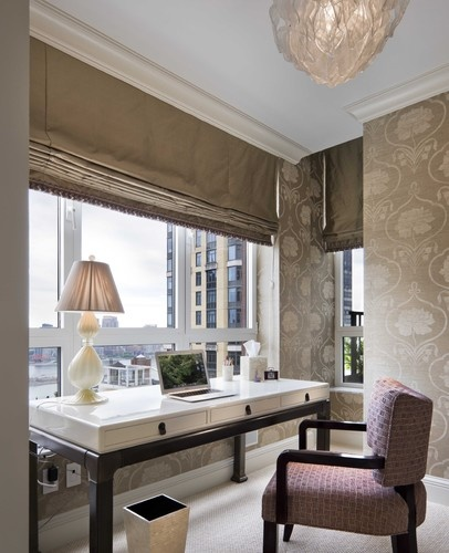 roman blinds, EAST SIDE RESIDENCE - contemporary - home office - new york - GRADE