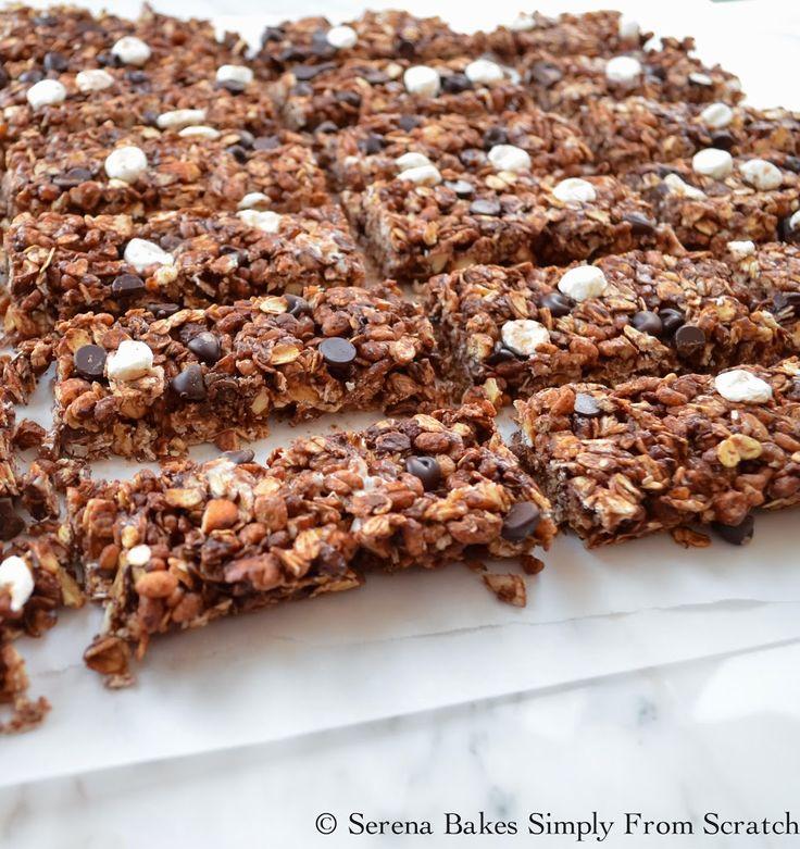 Gluten Free Smores Granola Bars